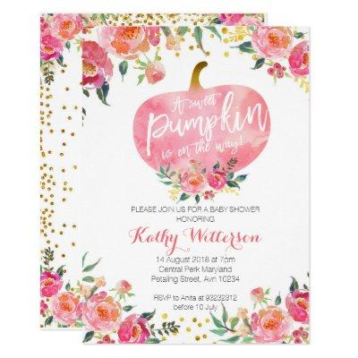 Pink little pumpkin Invitations