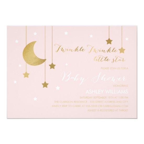 Pink moon and stars baby shower invitations baby shower invitations pink moon and stars baby shower invitation filmwisefo