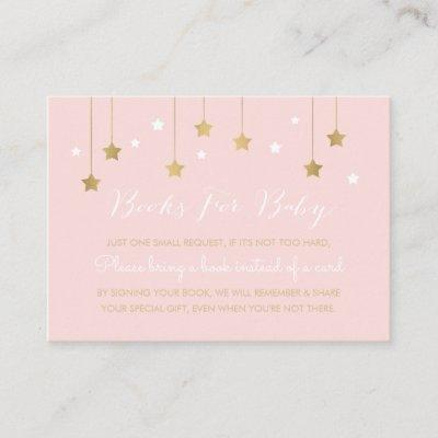 Pink moon and stars, invitation insert