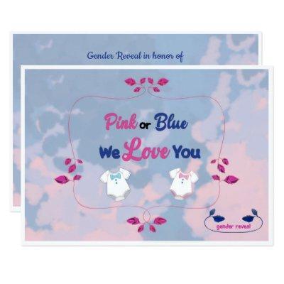 Pink blue gender reveal baby baby shower invitations baby shower pink or blue tie dye gender reveal invitation filmwisefo