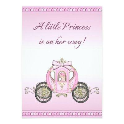 Pink Princess Coach Girls Baby Shower Invitation