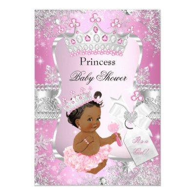 Pink Silver Princess Ethnic Invitations