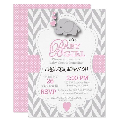 Pink, White Gray Elephant