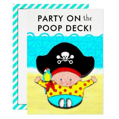 Pirate Themed Baby Shower Invitations