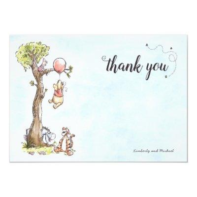 Pooh & Friends Watercolor | Baby Shower Thank You Invitations
