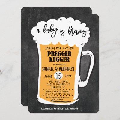 Pregger Kegger Beer Baby Shower Invitation
