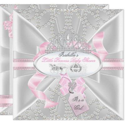 Pretty Baby Shower Girl Little Princess Carriage Invitation