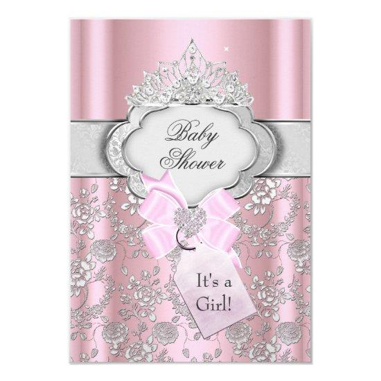 Pretty Bow Tiara Princess Invitations