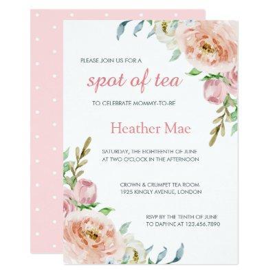 Pretty Flowers Baby Shower Invitation