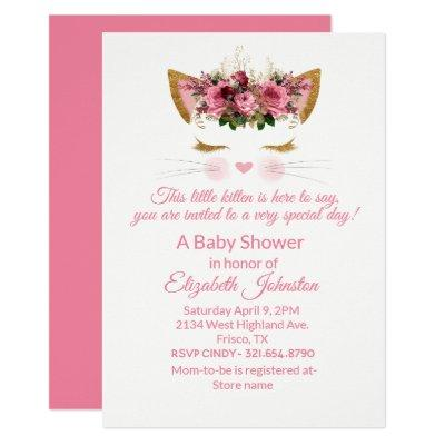 Pretty Kitty Baby Shower Invitation