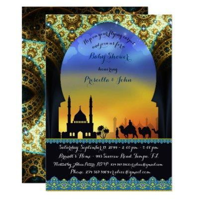 Prince Arabian Night Baby Shower Invitations