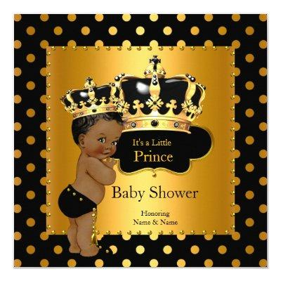 black gold prince baby shower baby shower invitations   baby, Baby shower invitations