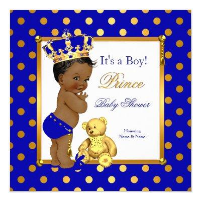prince baby shower royal blue baby shower invitations | baby, Baby shower invitations