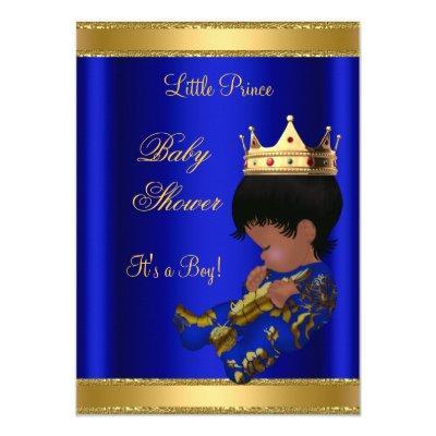 Prince Boy Blue Ethnic Invitations
