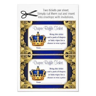 Prince Diaper Raffle Tickets Invitations