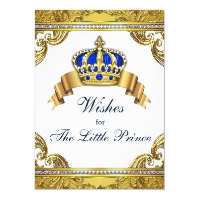 prince wishes for baby boy invitations