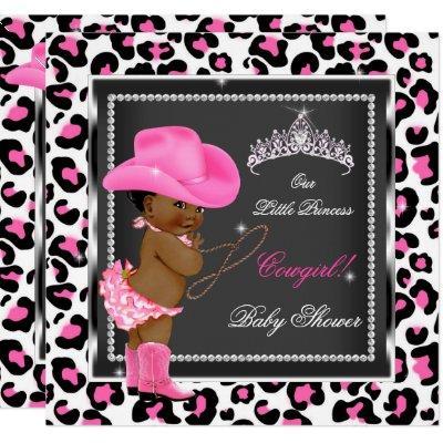 Princess Baby Shower Girl Cowgirl Ethnic Invitation