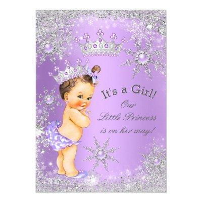 Princess Baby Shower Lavender Wonderland Invitations