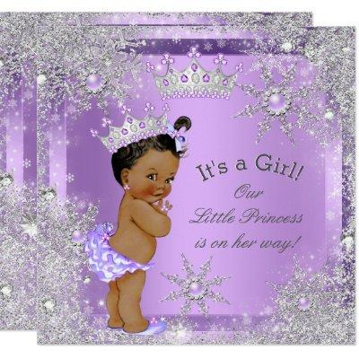 Princess Baby Shower Lilac Wonderland Ethnic Invitations