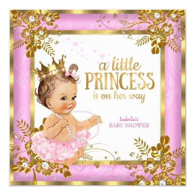 gold white princess baby shower baby shower invitations | baby, Baby shower invitations