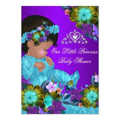 Princess Teal Blue Purple Girl Invite