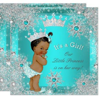 Princess Baby Shower Winter Wonderland Ethnic Invitations