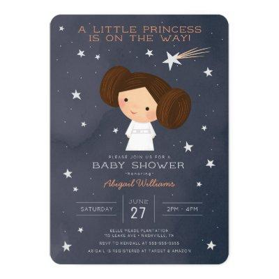 Princess Leia | Watercolor Baby Shower Invitation