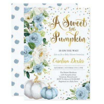 Pumpkin Baby Shower Invitation Boy Fall Shower