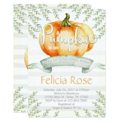 Pumpkin  Invite Fall Boy