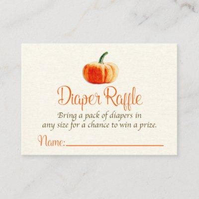 Pumpkin Diaper Raffle Invitations, Diaper Raffle Invitations
