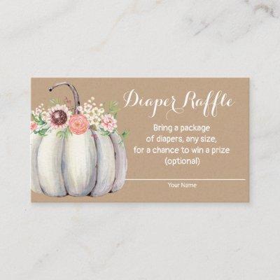 Pumpkin Fall Baby Shower Diaper Raffle Invitations