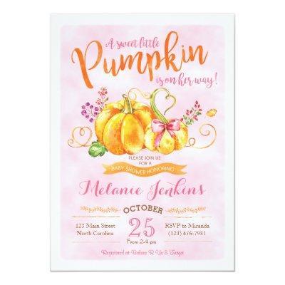 Pumpkin Fall Invitations