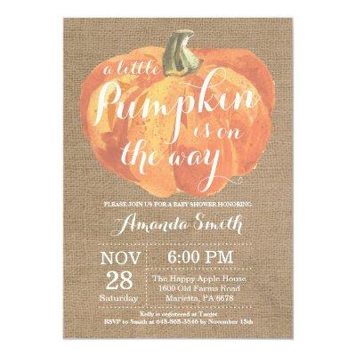 Pumpkin Fall  Burlap