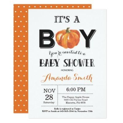 Pumpkin Fall Invitation Invitations