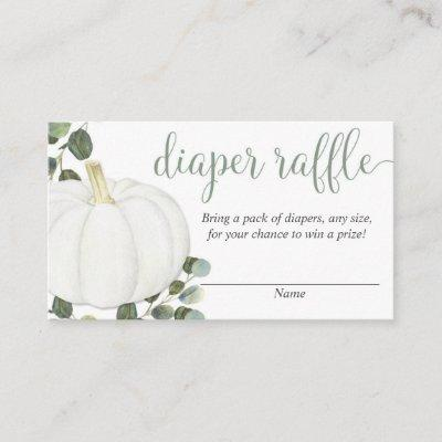 Pumpkin gender neutral fall diaper raffle cards