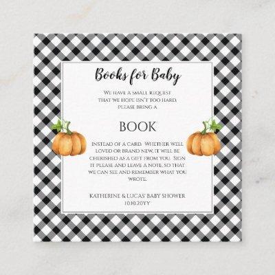 Pumpkins | Sunflowers Baby Shower Book Request Enclosure Card