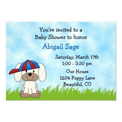 Puppy Invitations for Boys