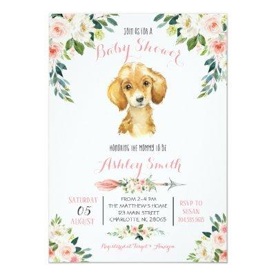 Puppy Baby Shower invitation, Invitation