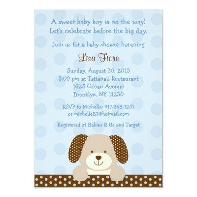 Puppy Invitations