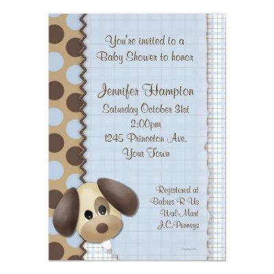 Puppy Dog Invitations
