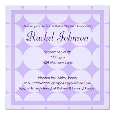 Purple Invitations