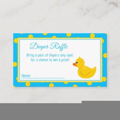 Purple Butterfly Baby Shower Diaper Raffle Enclosure Card