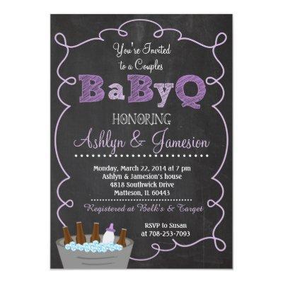 Purple Couples BabyQ BBQ