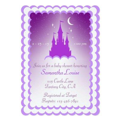 Purple Dreamy Castle In The Clouds