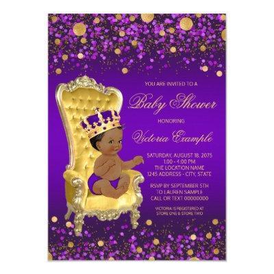 Purple Gold African American Prince