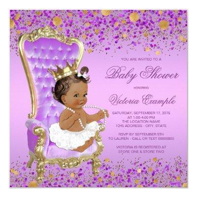 Purple Gold Ethnic Princess