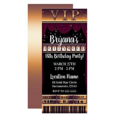 Hollywood Glam Baby Shower Invitations