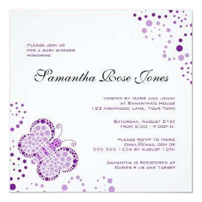 Purple & White Butterfly Elegant