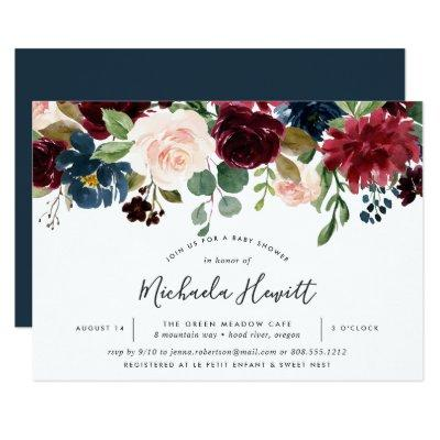 Radiant Bloom Baby Shower Invitations