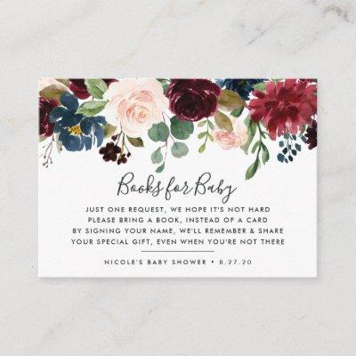 Radiant Bloom Book Request Baby Shower Card